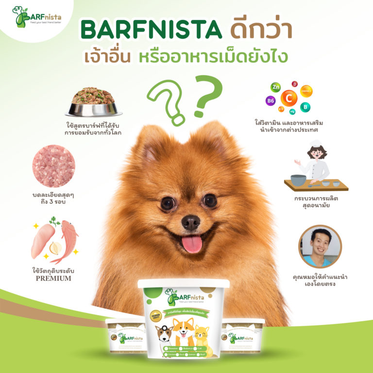 ทำไมต้องเลือกอาหารบาร์ฟของBARFnista